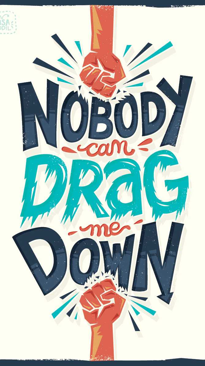 Nobody Can Drag Me Down iPhone Wallpaper
