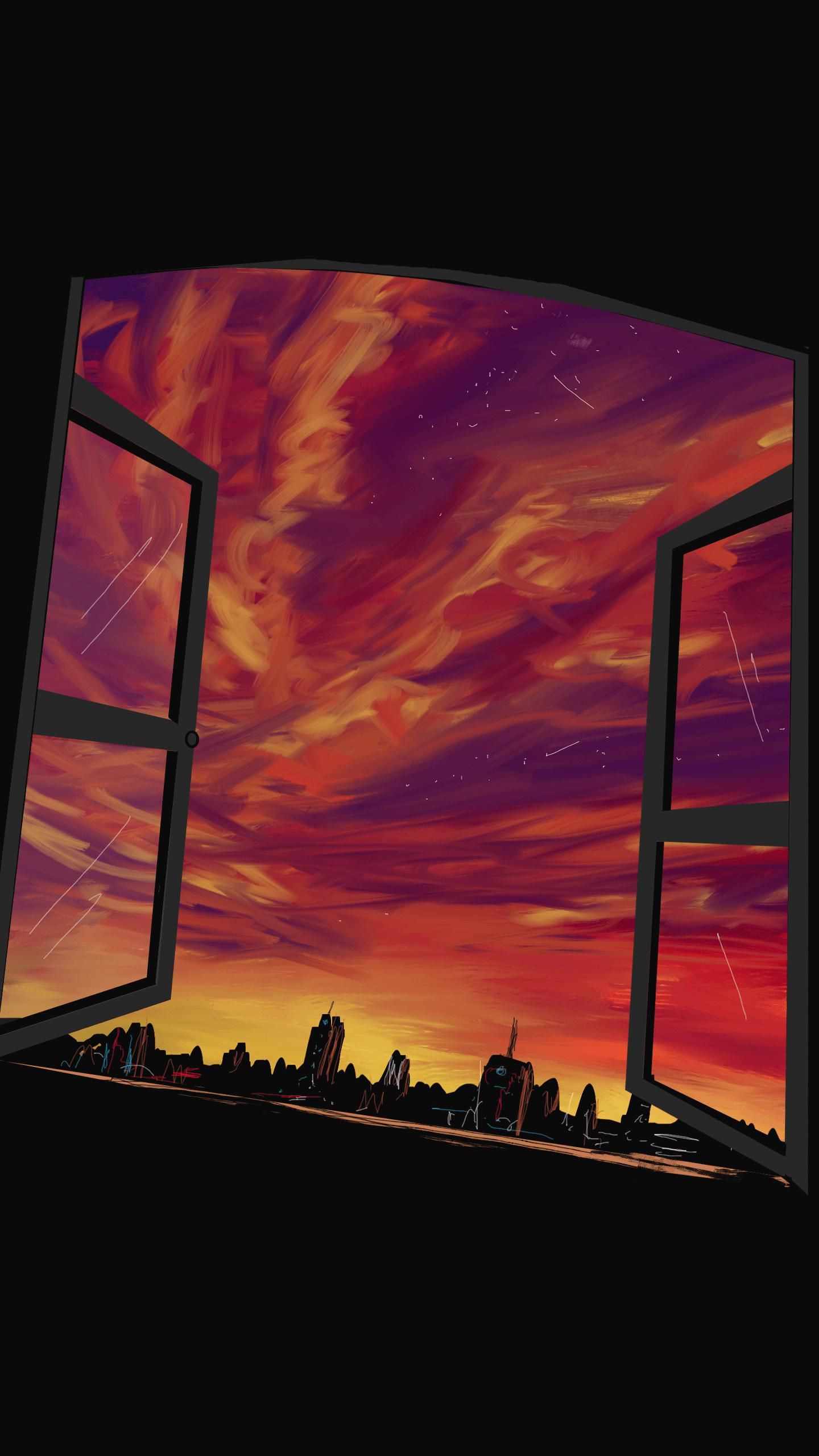 Open Window iPhone Wallpaper