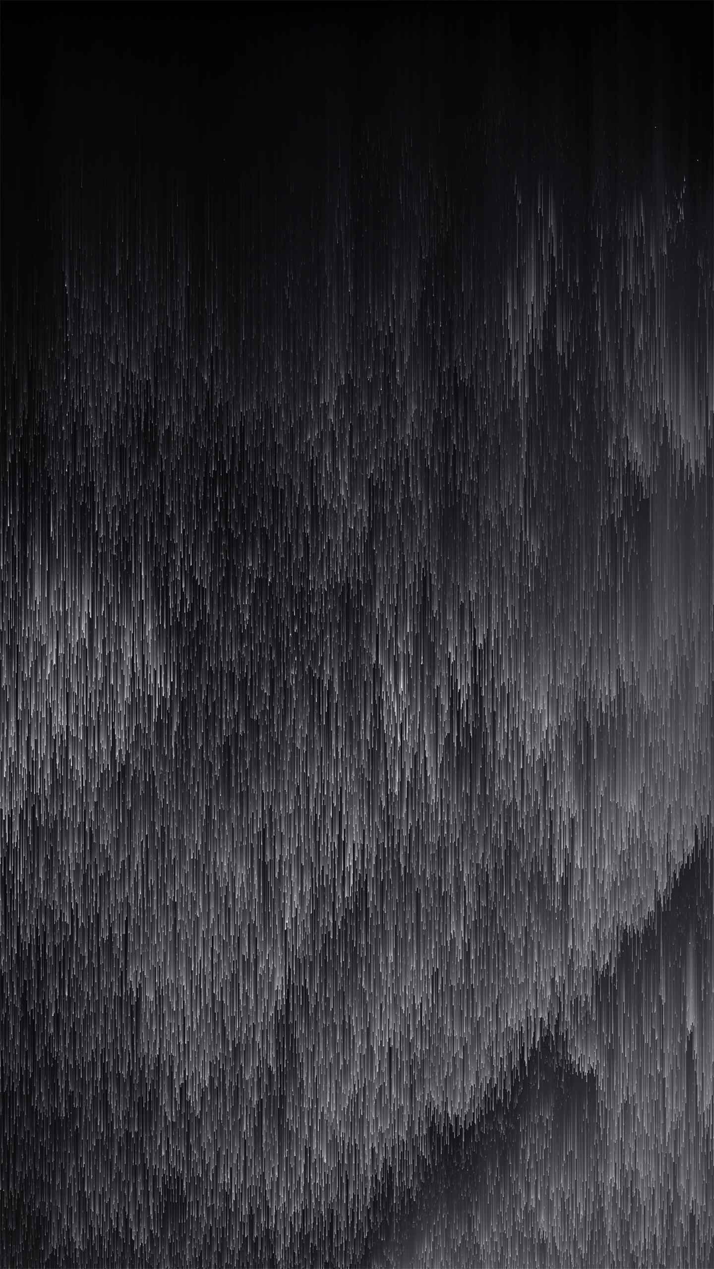 Pixel Rain iPhone Wallpaper