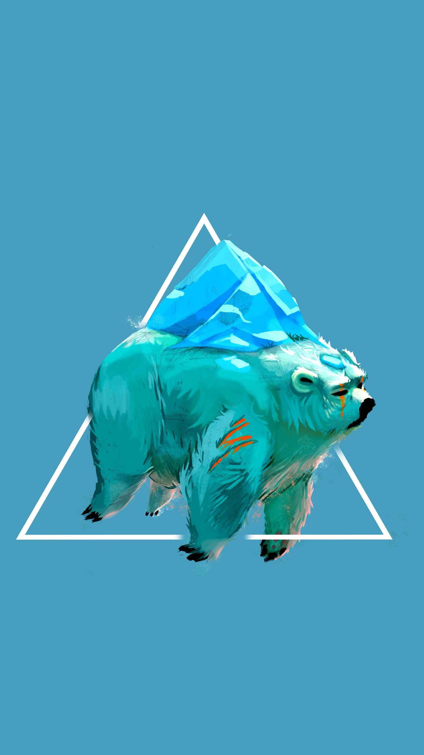 Polar Bear Art iPhone Wallpaper