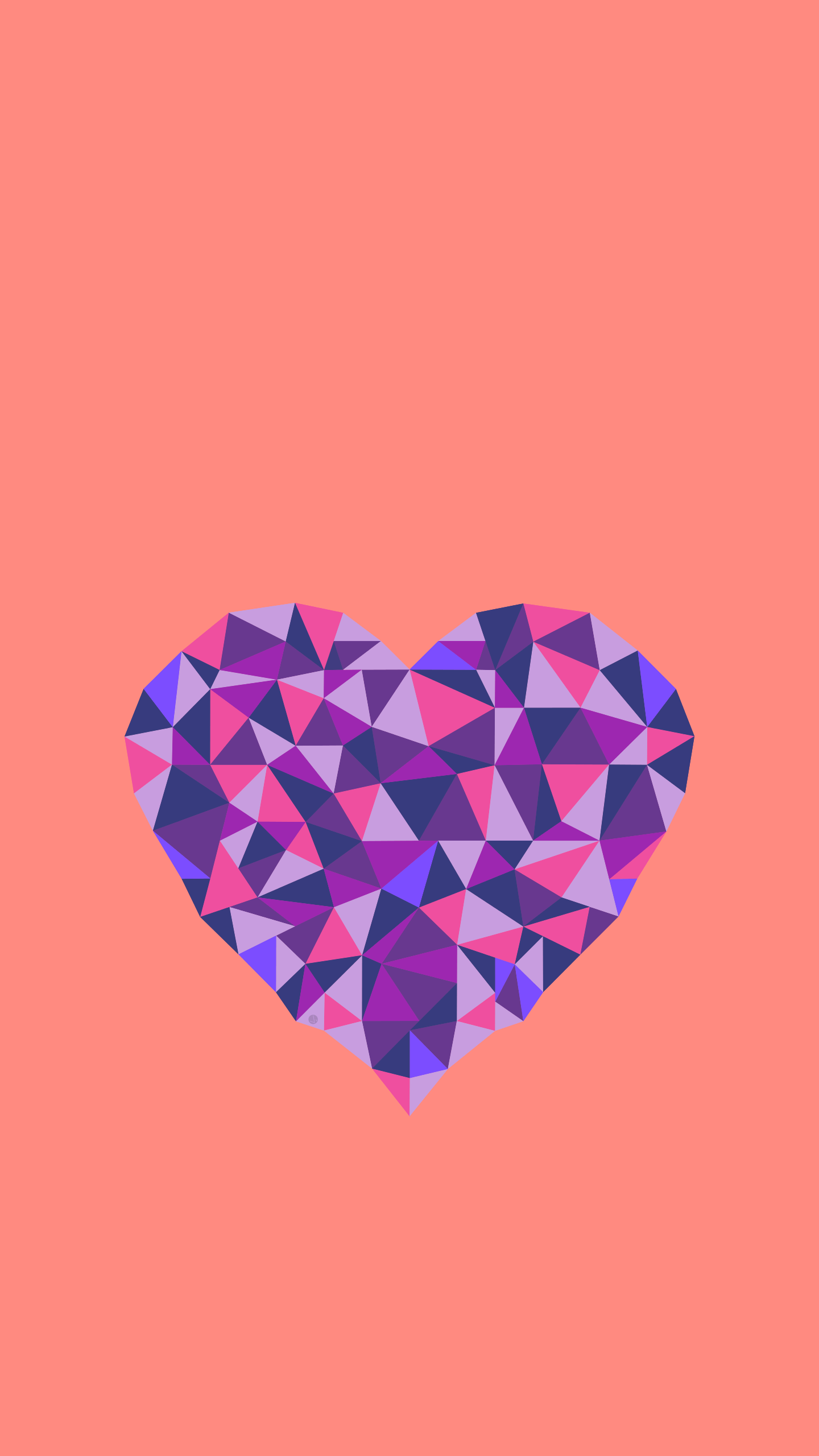 Poly Heart iPhone Wallpaper
