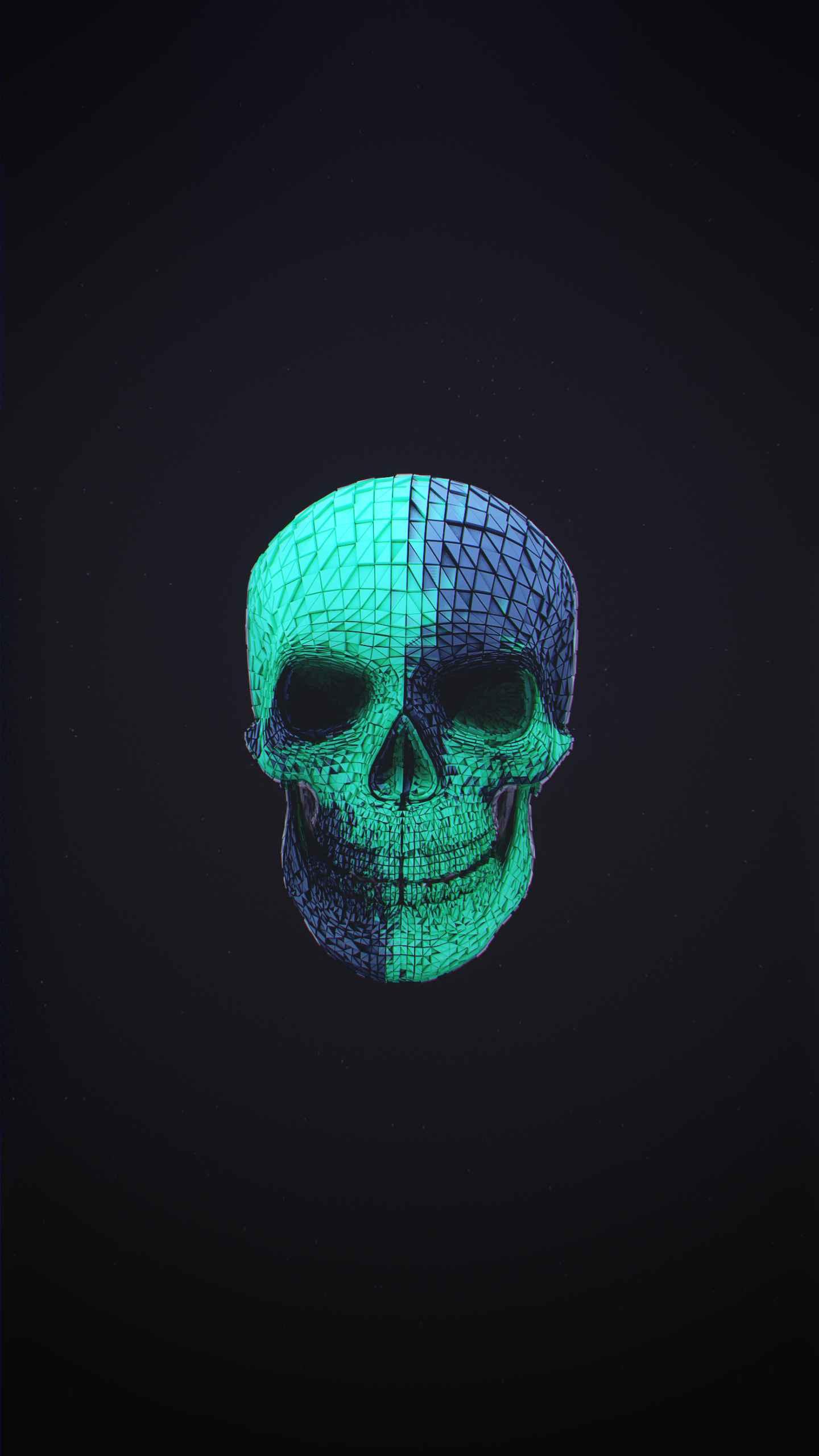 Poly Skull iPhone Wallpaper