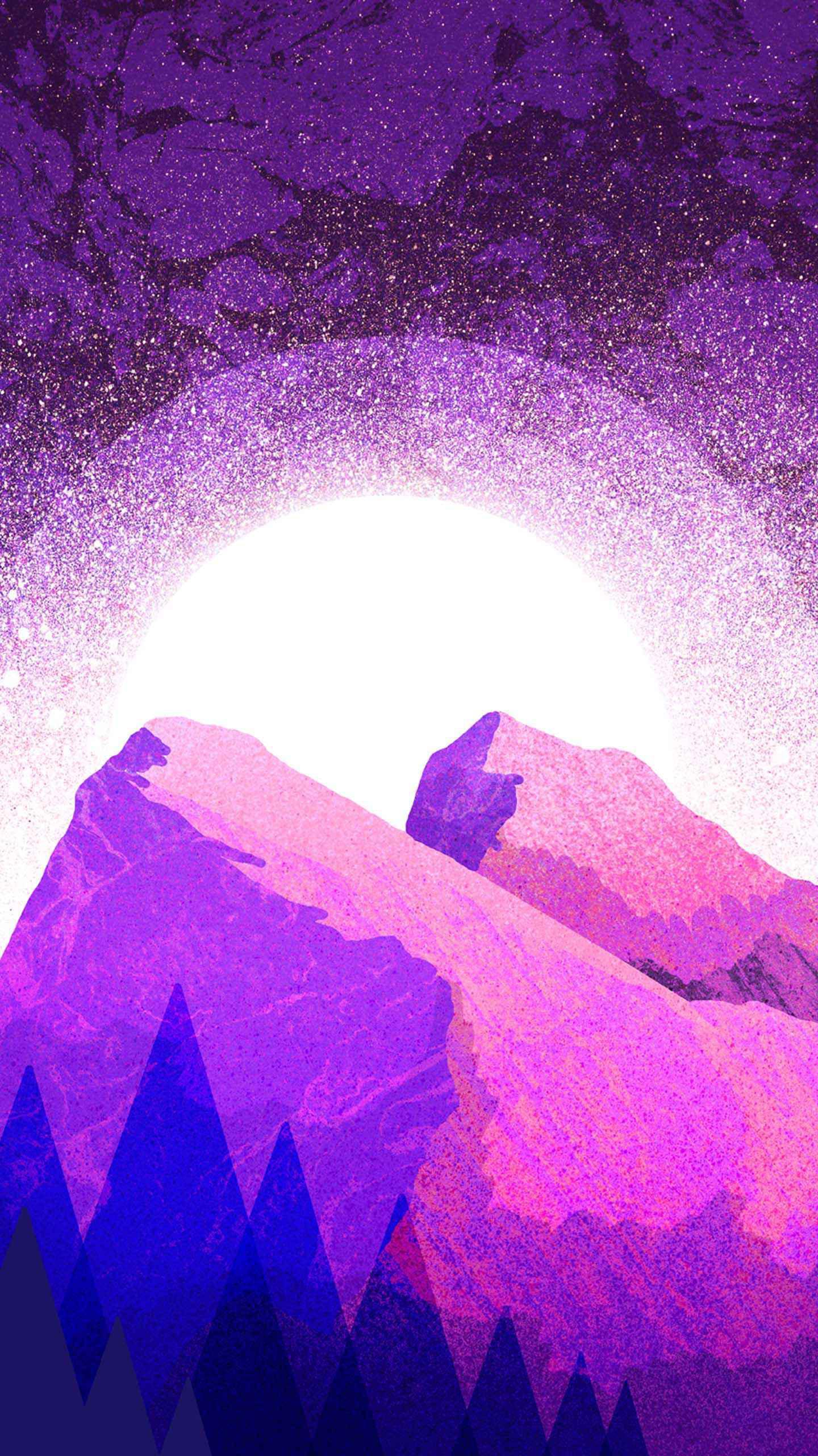 Purple Mountains iPhone Wallpaper