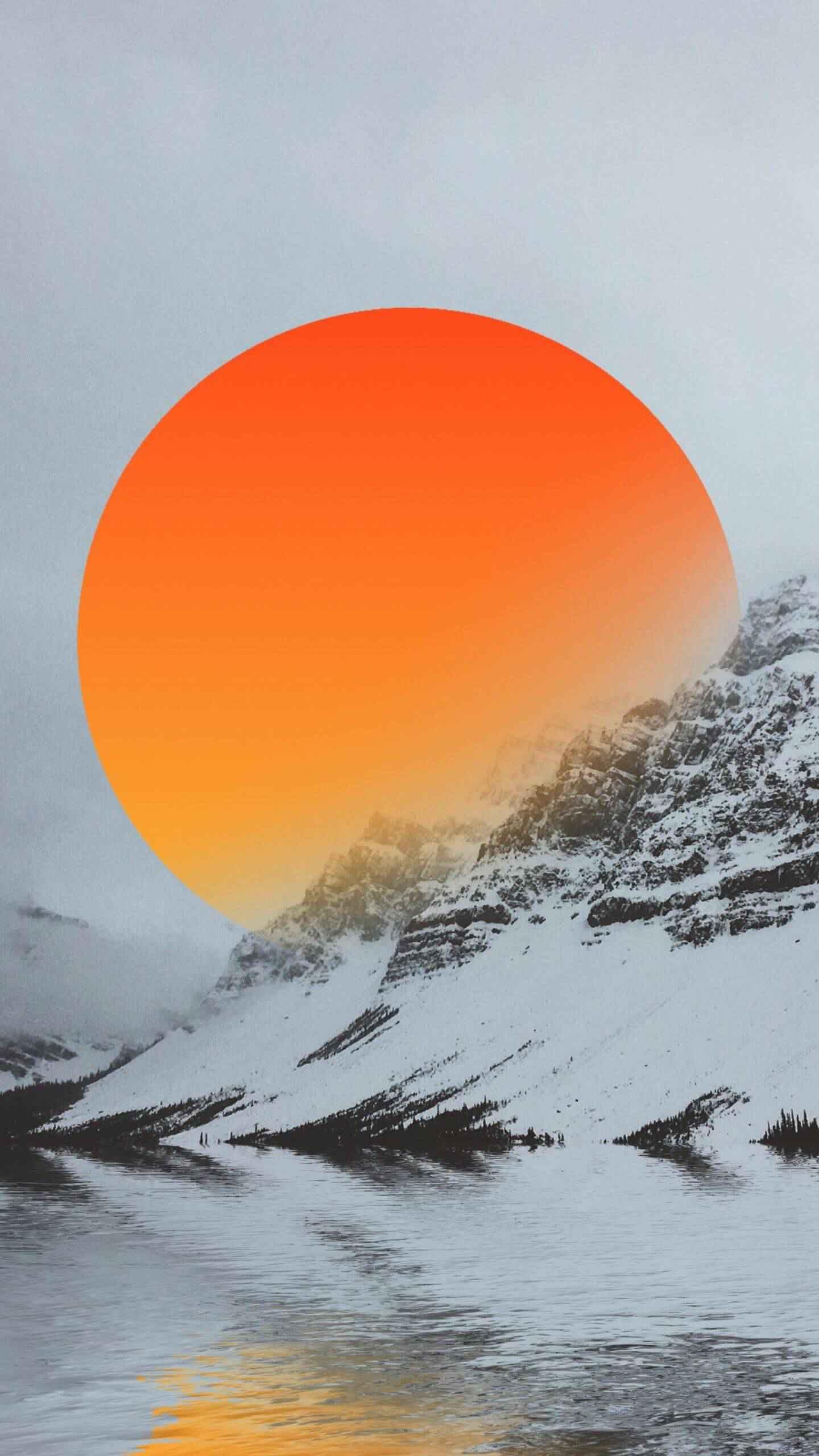 Snow Sun iPhone Wallpaper
