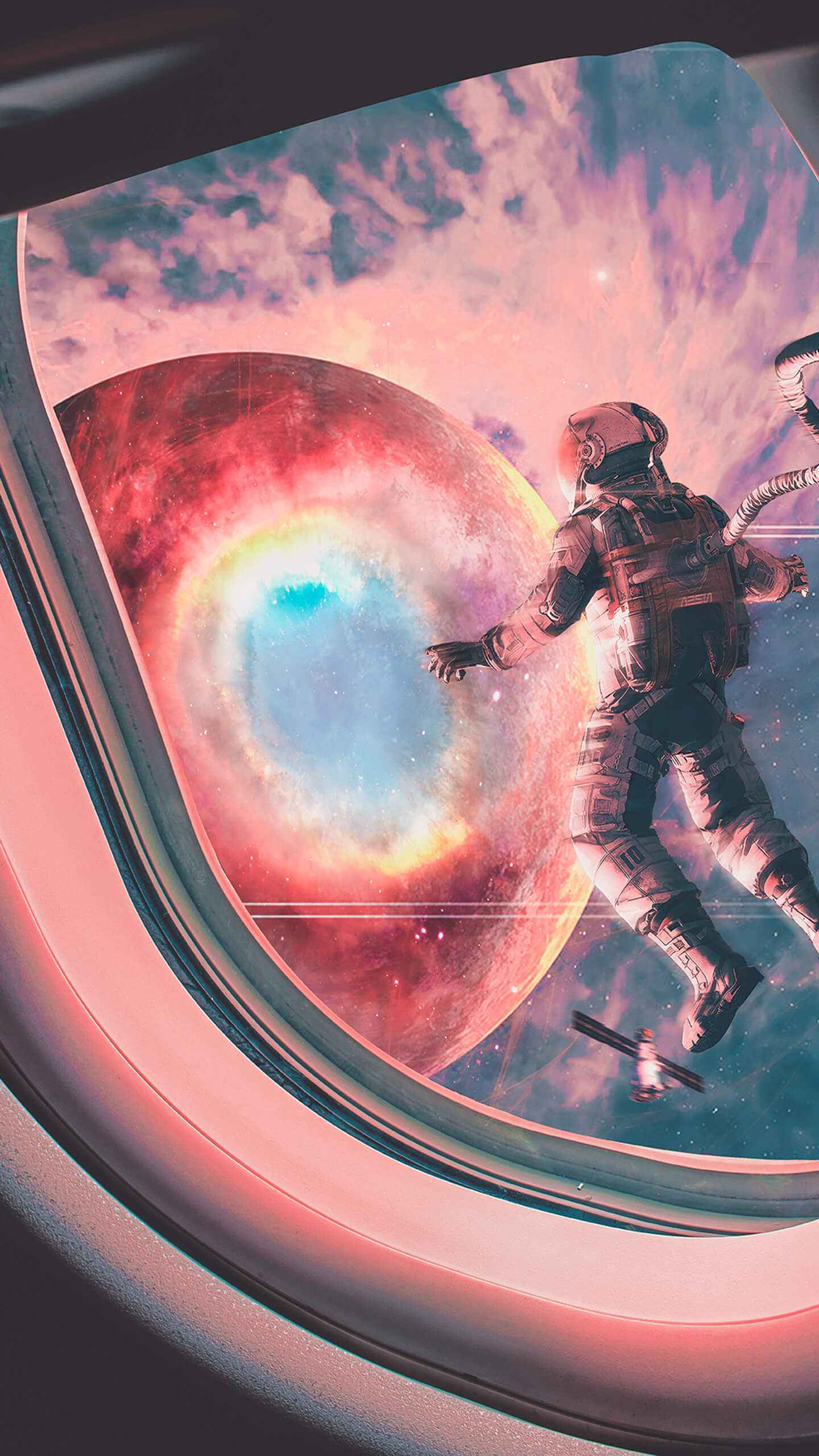 Space Walk iPhone Wallpaper