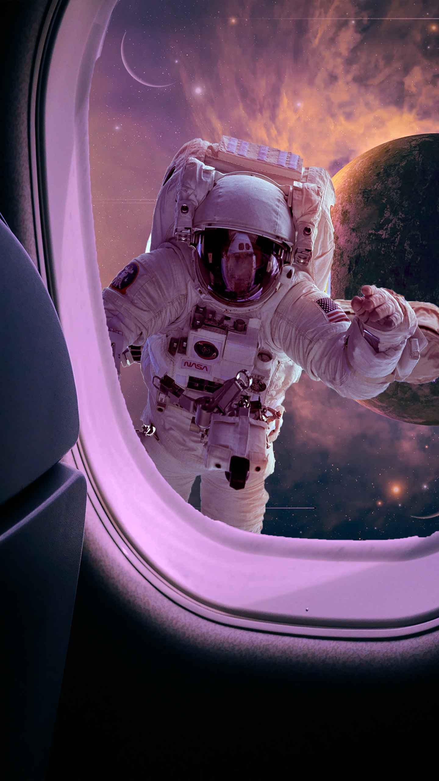 Spaceman iPhone Wallpaper