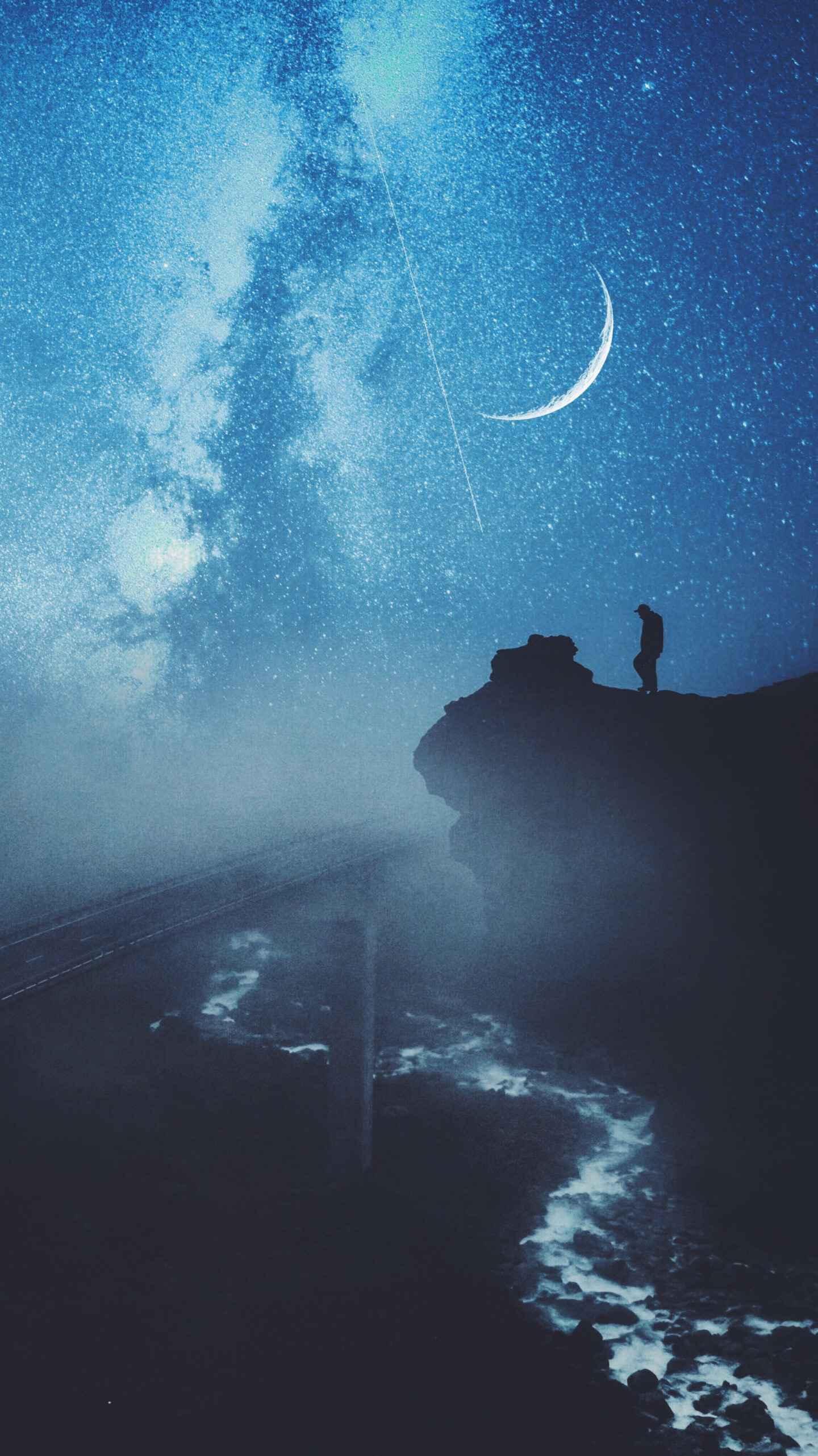Starry Night Mist iPhone Wallpaper