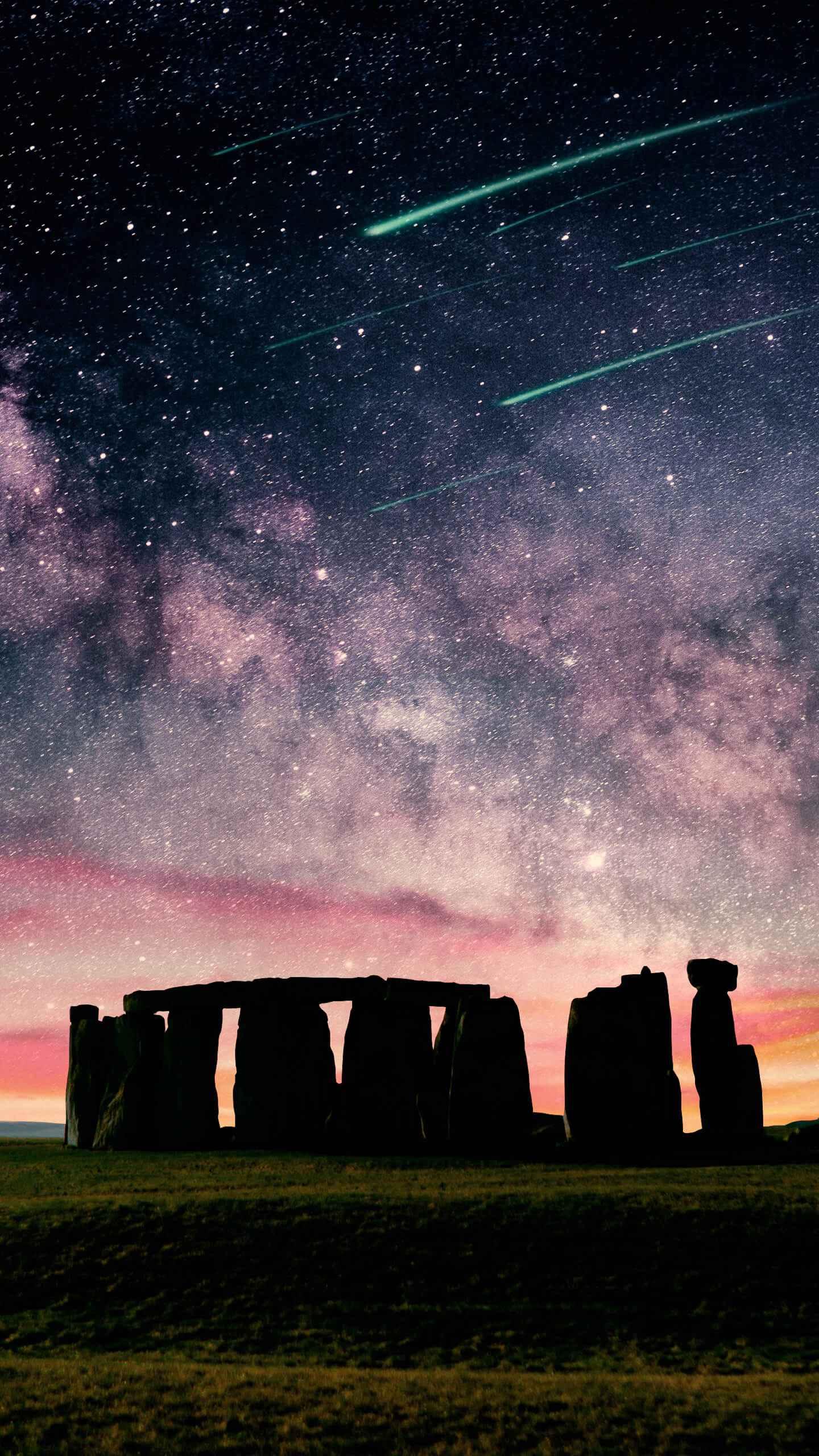 Stonehenge Sunset iPhone Wallpaper