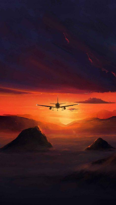 Sunset Altitude iPhone Wallpaper