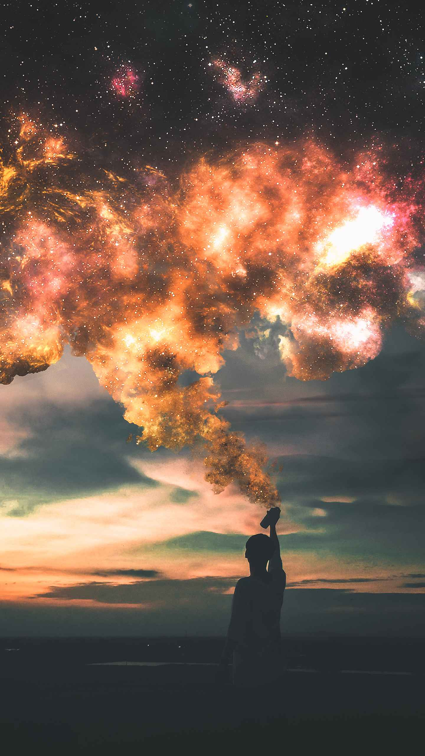 Supercluster Art iPhone Wallpaper