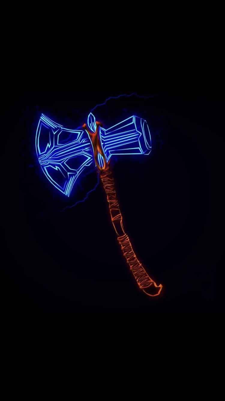 Thor Axe iPhone Wallpaper