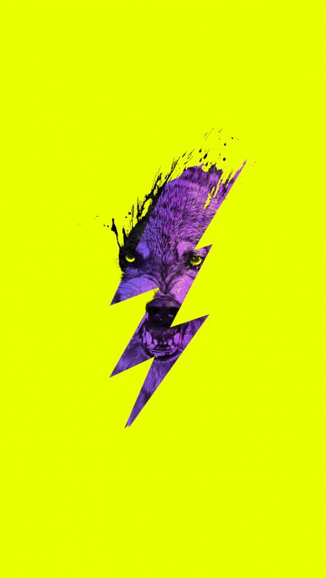 Thunderwolf iPhone Wallpaper