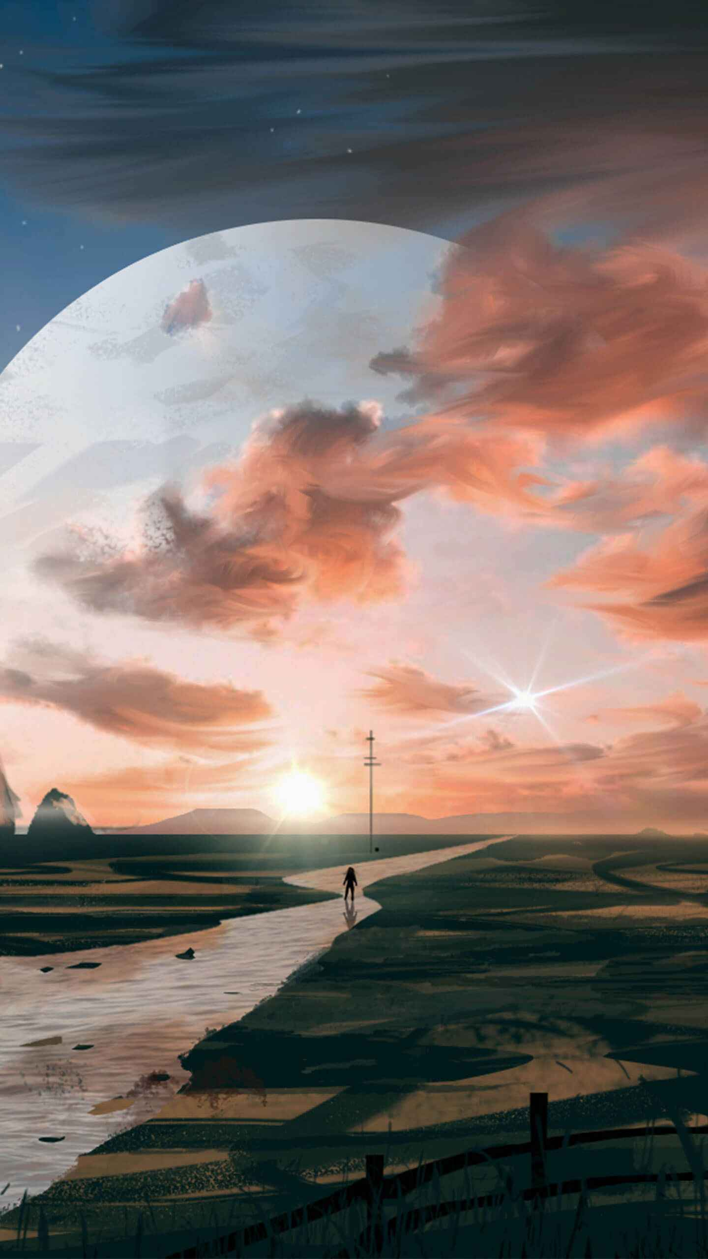 Titan Planet iPhone Wallpaper