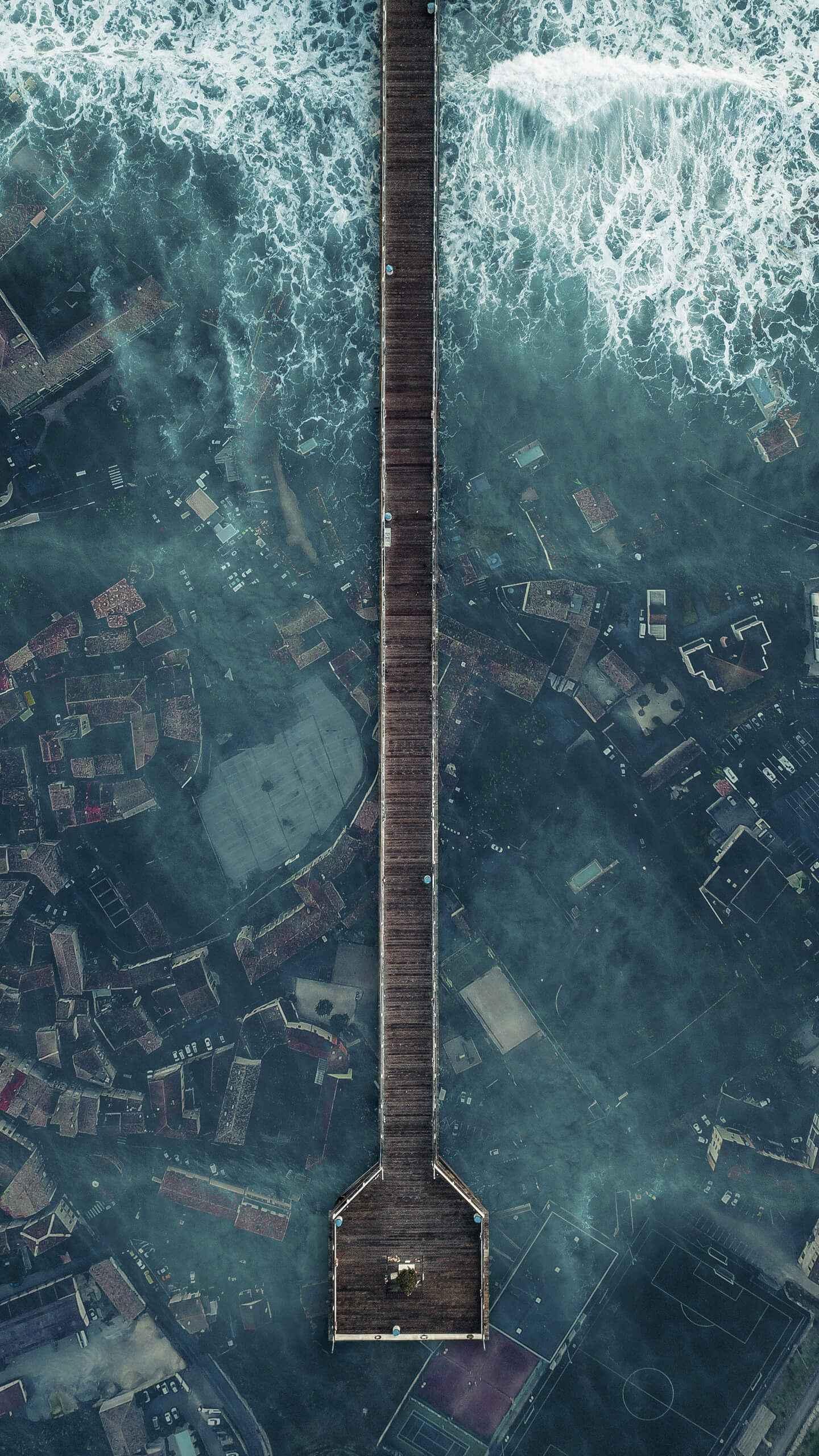 Underwater City iPhone Wallpaper