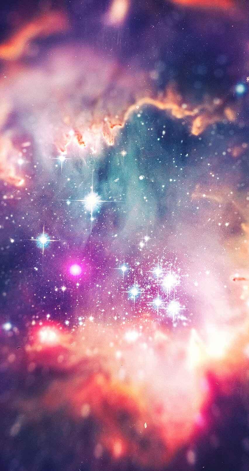 Universe under the Telescope iPhone Wallpaper