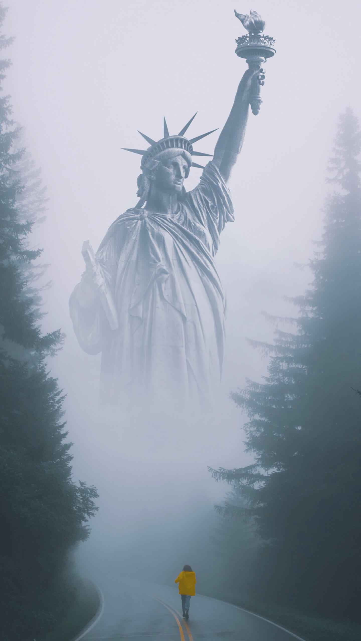 Way to Statue of Liberty iPhone Wallpaper