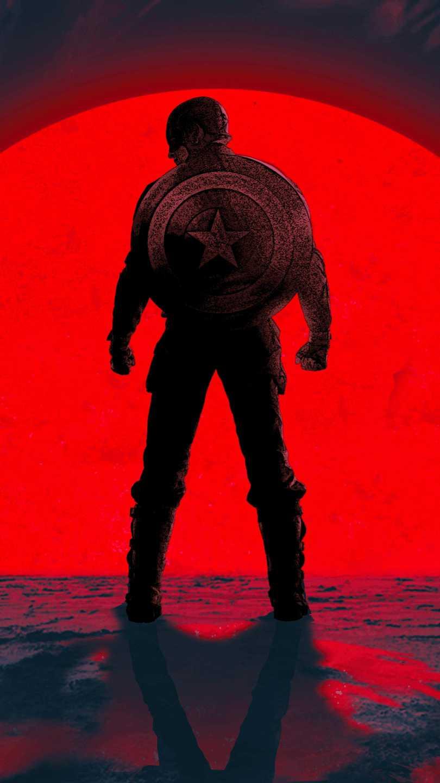 Avengers Endgame Captain America Arrival iPhone Wallpaper