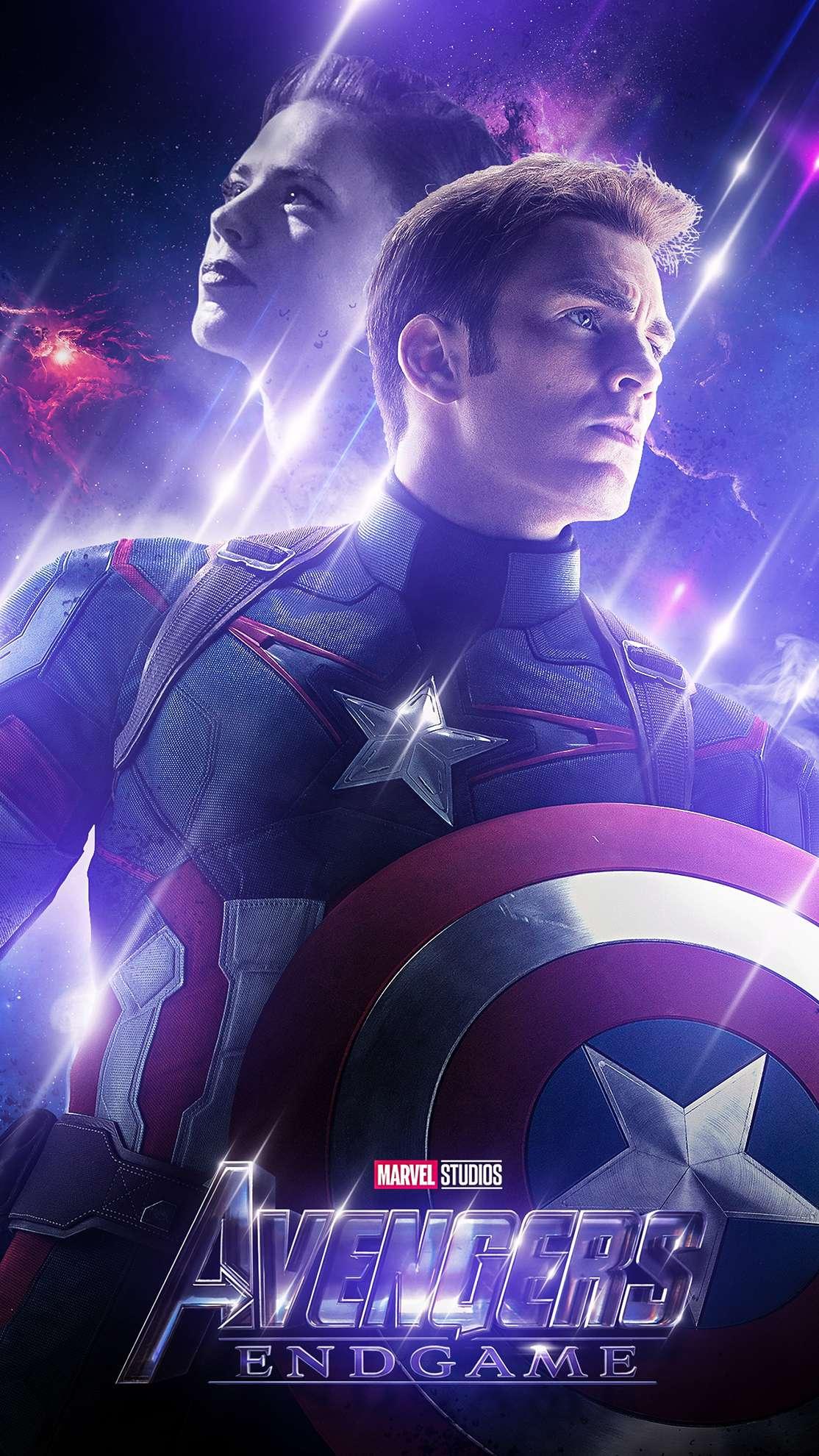 Avengers Endgame Captain America Past iPhone Wallpaper
