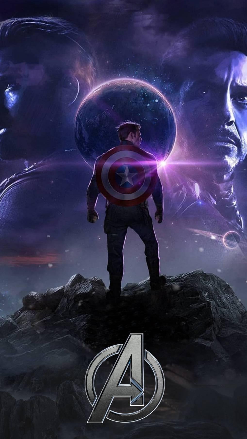 Avengers Endgame Captain America Titan Planet iPhone Wallpaper