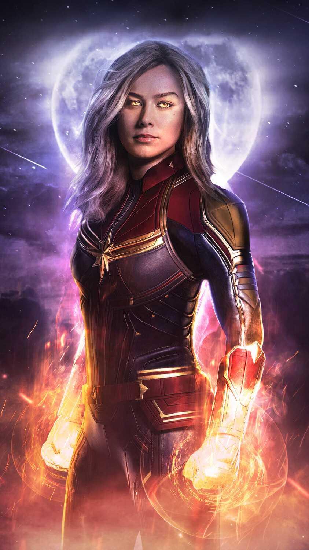 Avengers Endgame Captain Marvel iPhone Wallpaper
