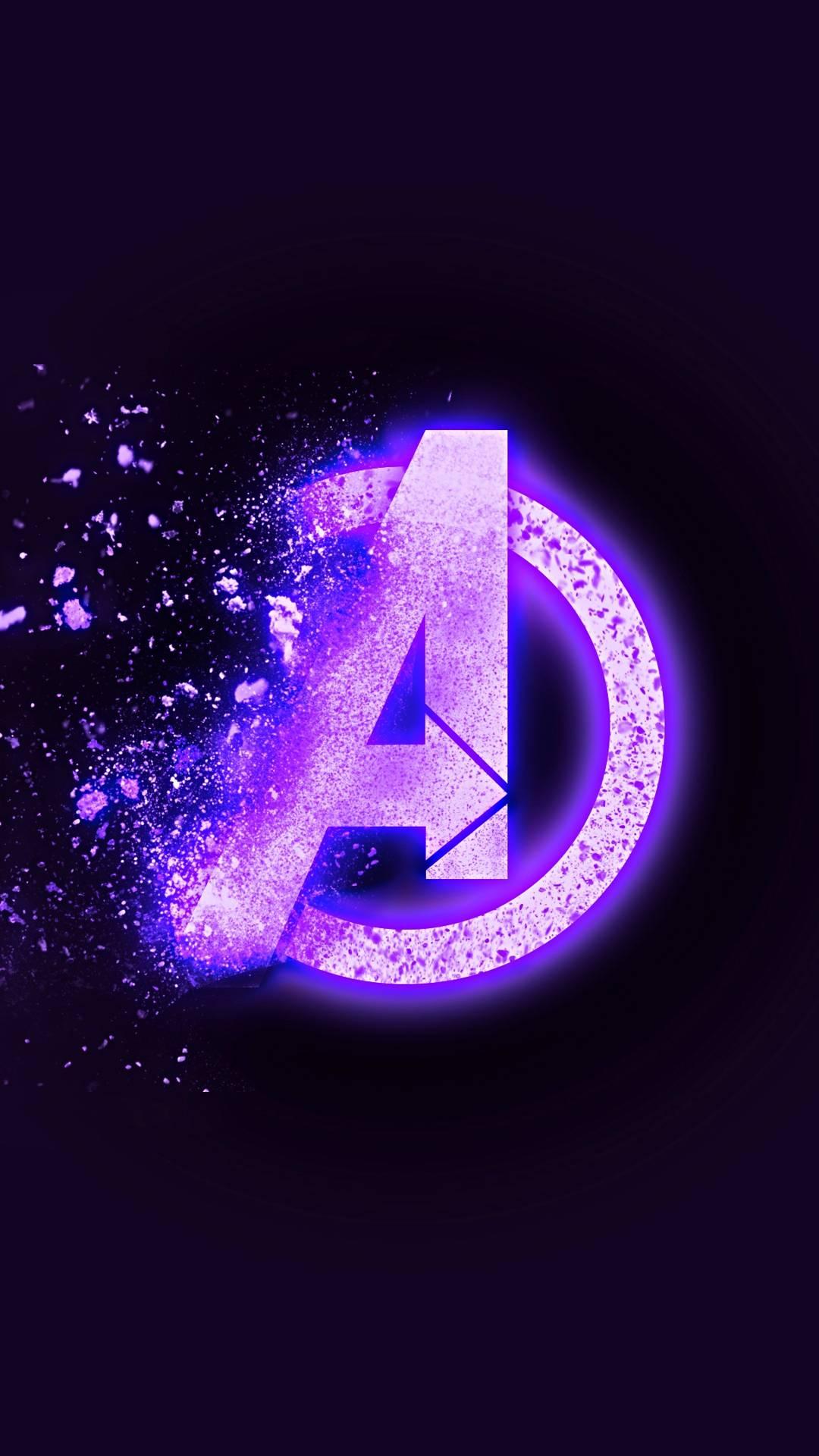 Avengers Endgame Dust Logo iPhone Wallpaper