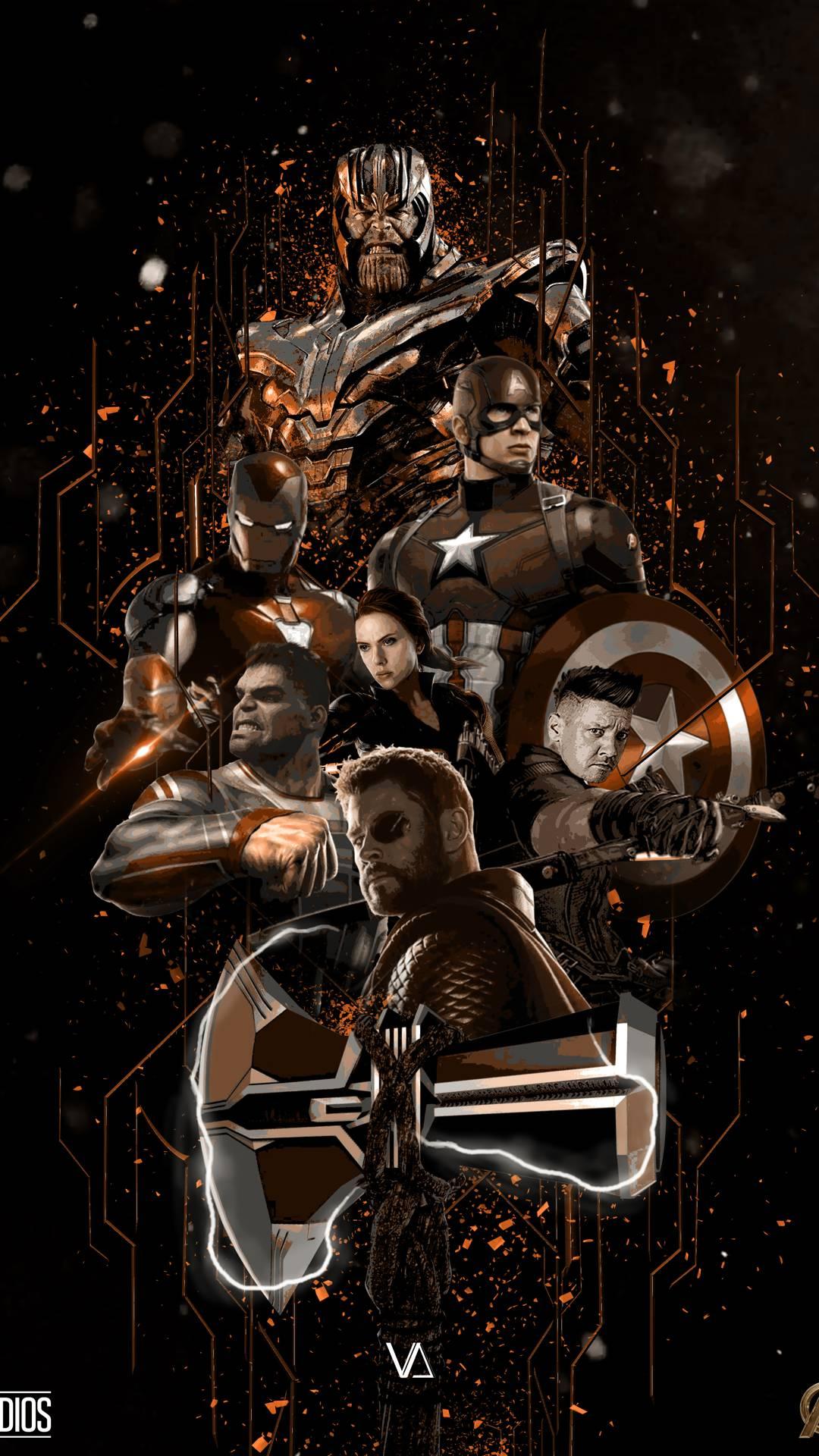 Avengers Endgame Fan Art Poster iPhone Wallpaper