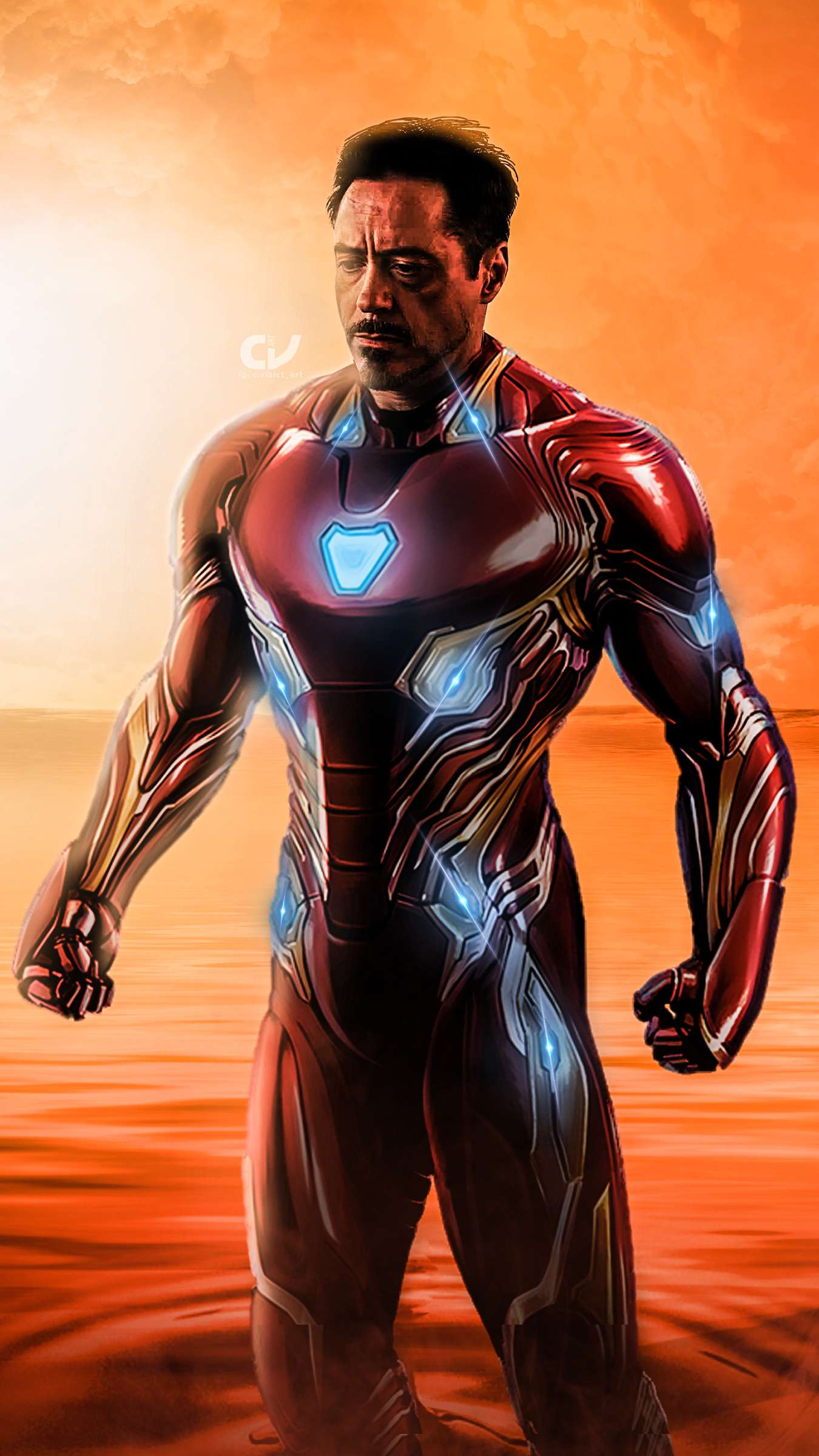Avengers Endgame Iron Man in Soul World iPhone Wallpaper