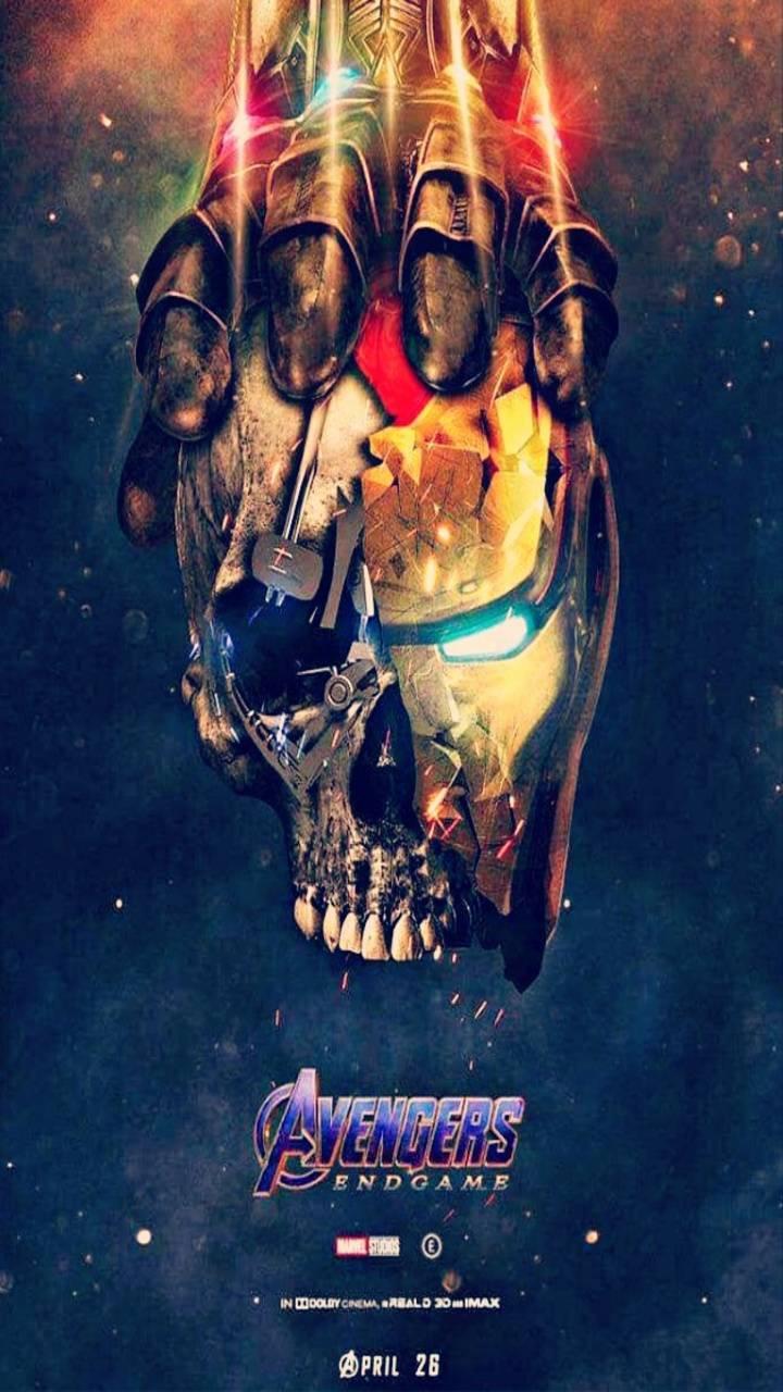 Avengers Endgame Iron Man vs Infinity Stones iPhone Wallpaper