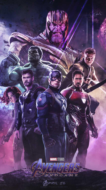 Avengers Endgame Poster Thanos vs Heroes iPhone Wallpaper
