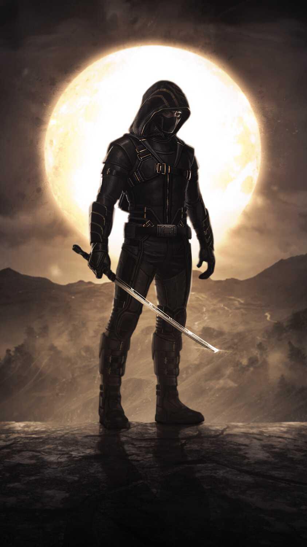 Avengers Endgame Ronin Black iPhone Wallpaper