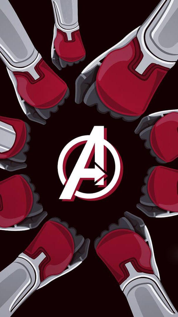 Avengers Endgame Team iPhone Wallpaper