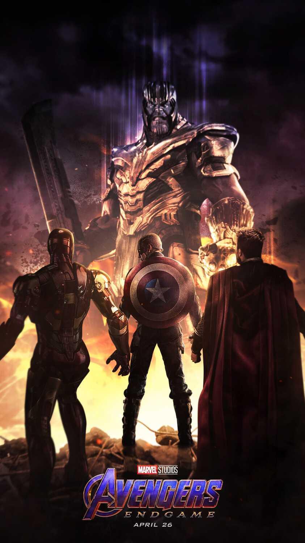 Avengers Endgame Thanos vs Avengers iPhone Wallpaper