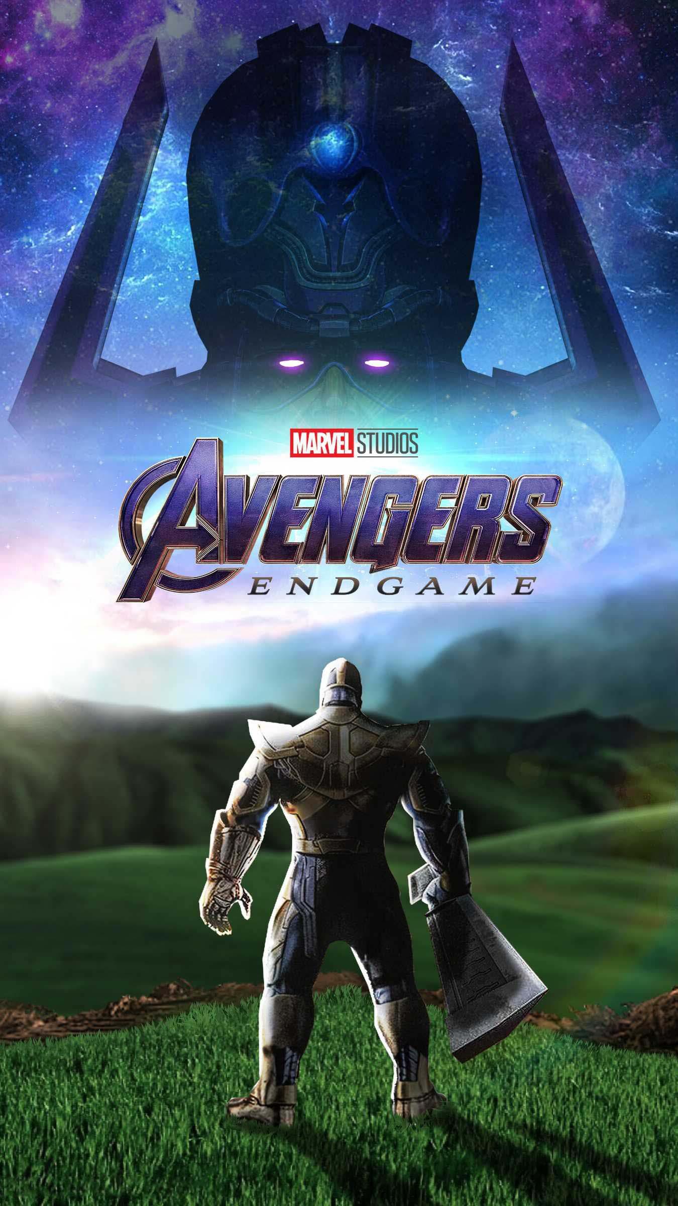 Avengers Endgame Thanos vs Galactus iPhone Wallpaper