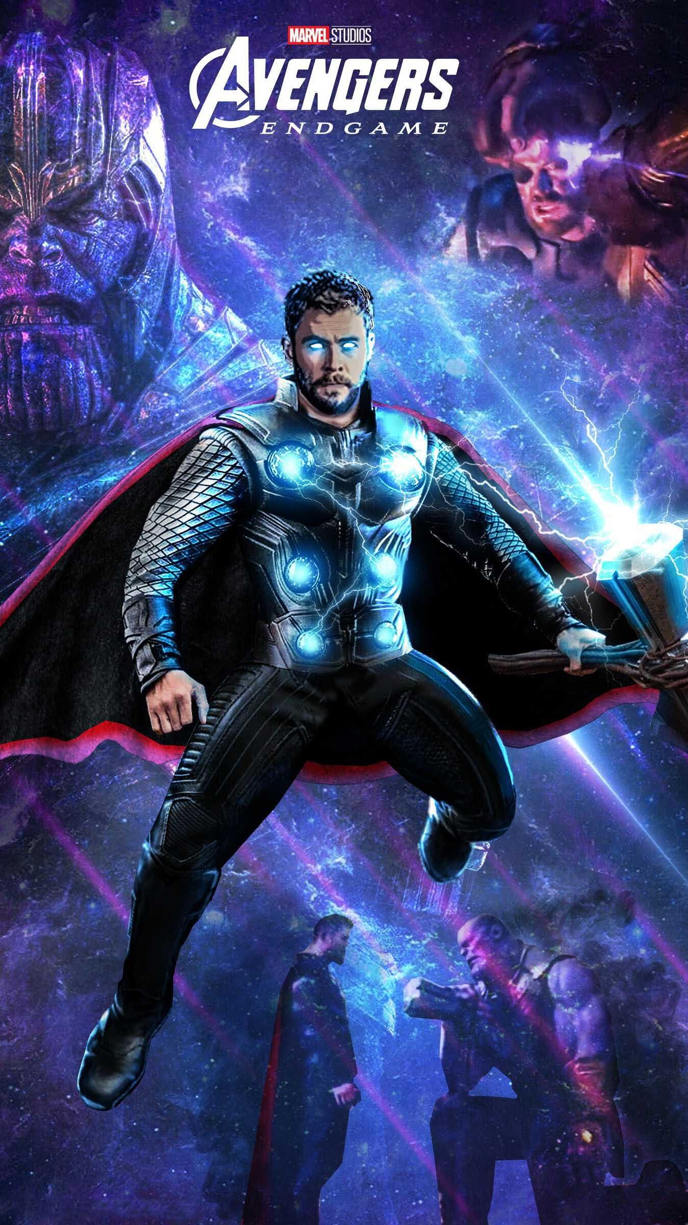 Avengers Endgame Thanos vs Thor iPhone Wallpaper - iPhone