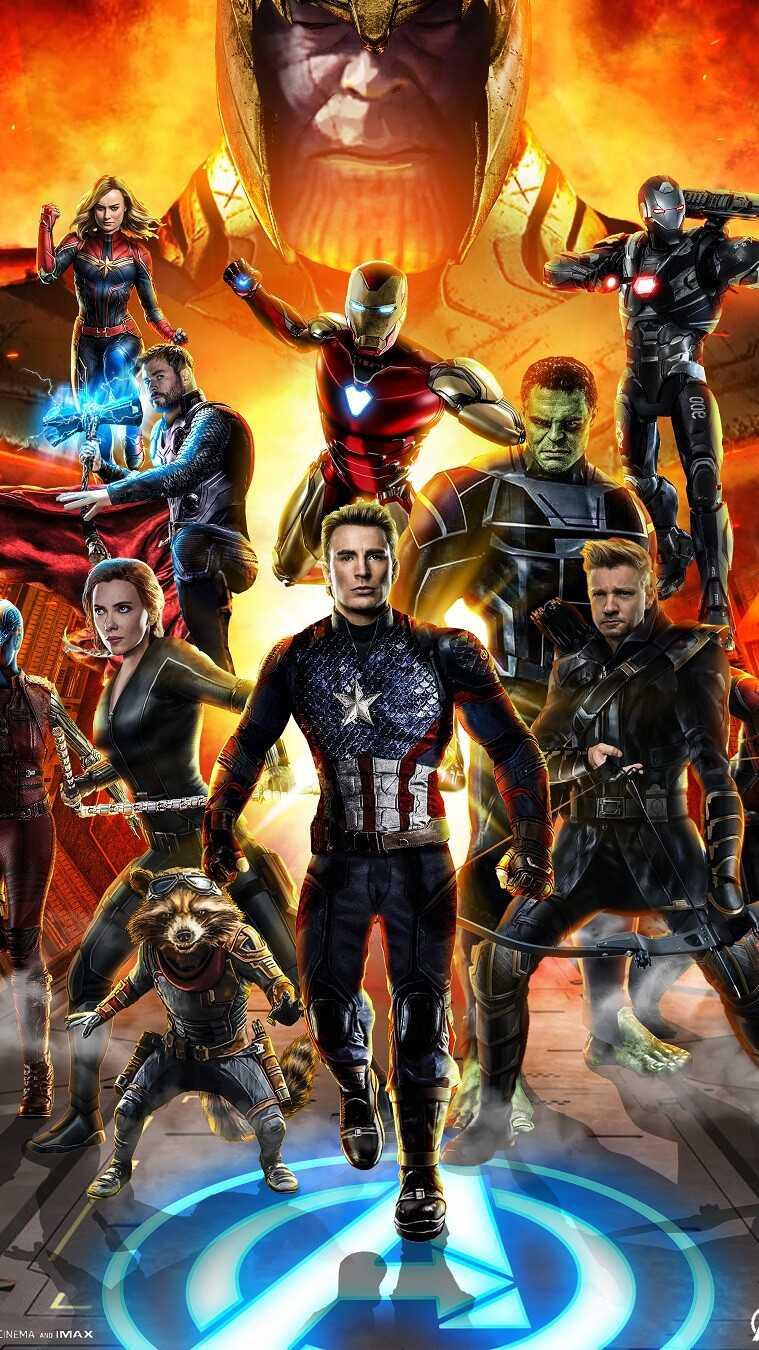 Avengers Endgame The Avengers Team iPhone Wallpaper