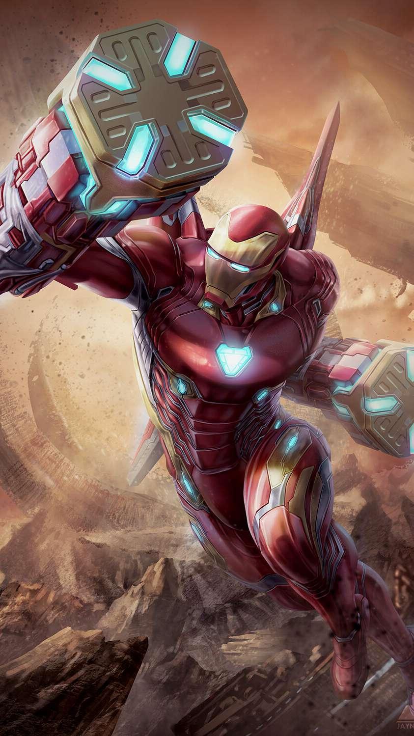 Avengers Endgame Tony Vs Thanos iPhone Wallpaper