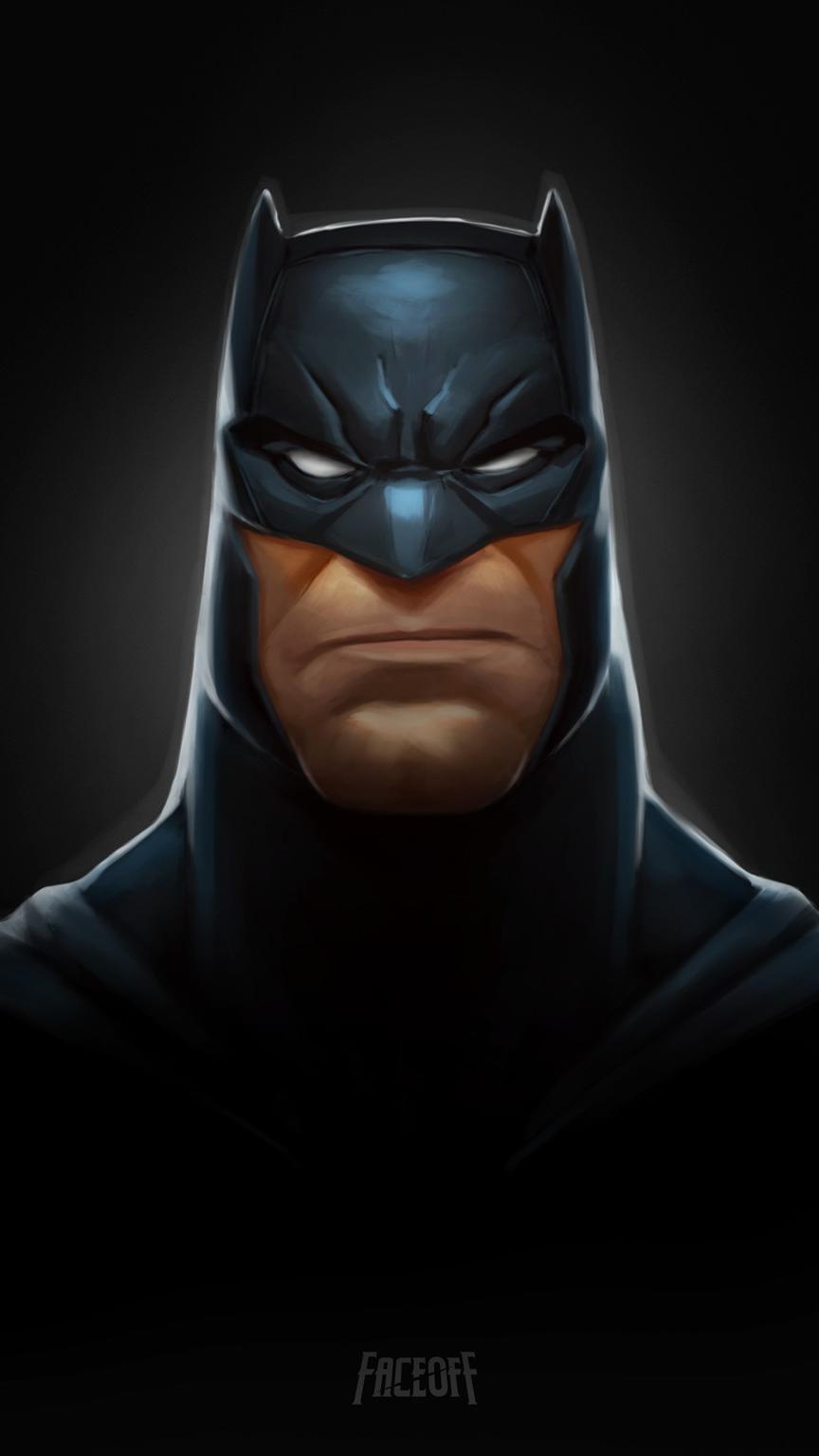 Batman Face iPhone Wallpaper
