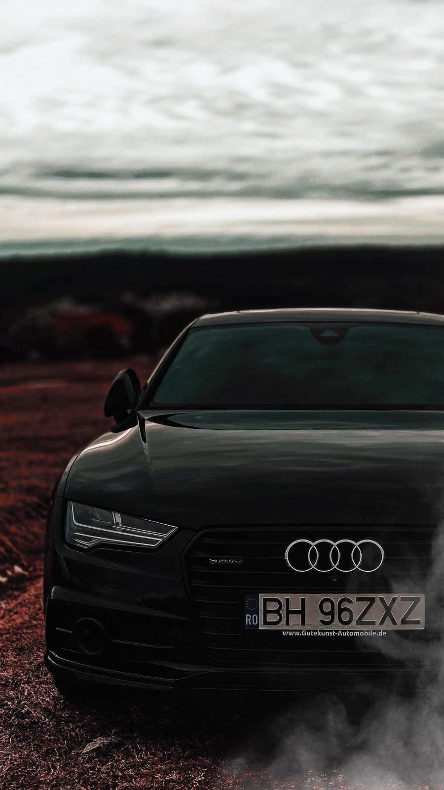Black Audi iPhone Wallpaper