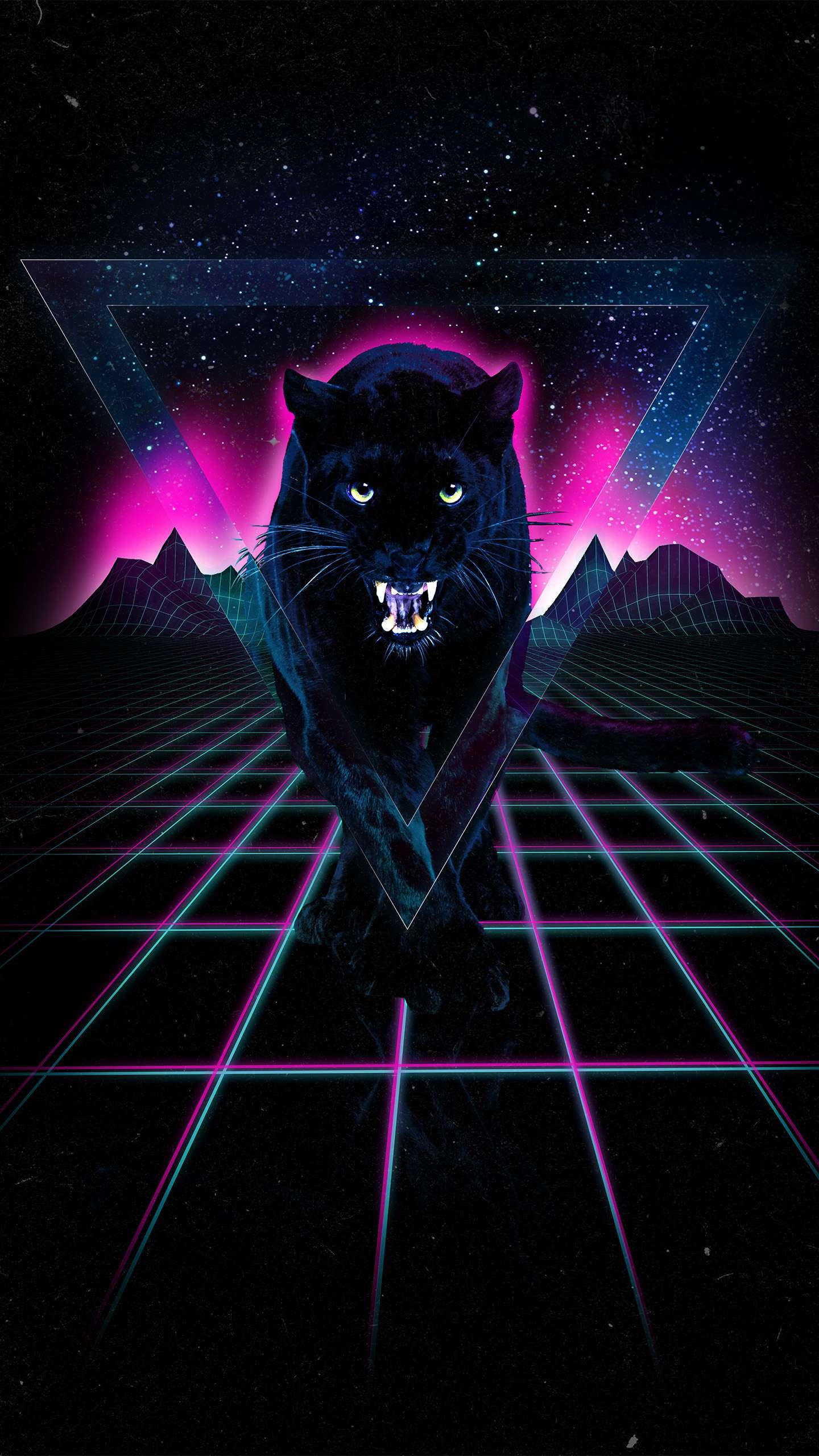 Black Jaguar Amoled Iphone Wallpaper Iphone Wallpapers