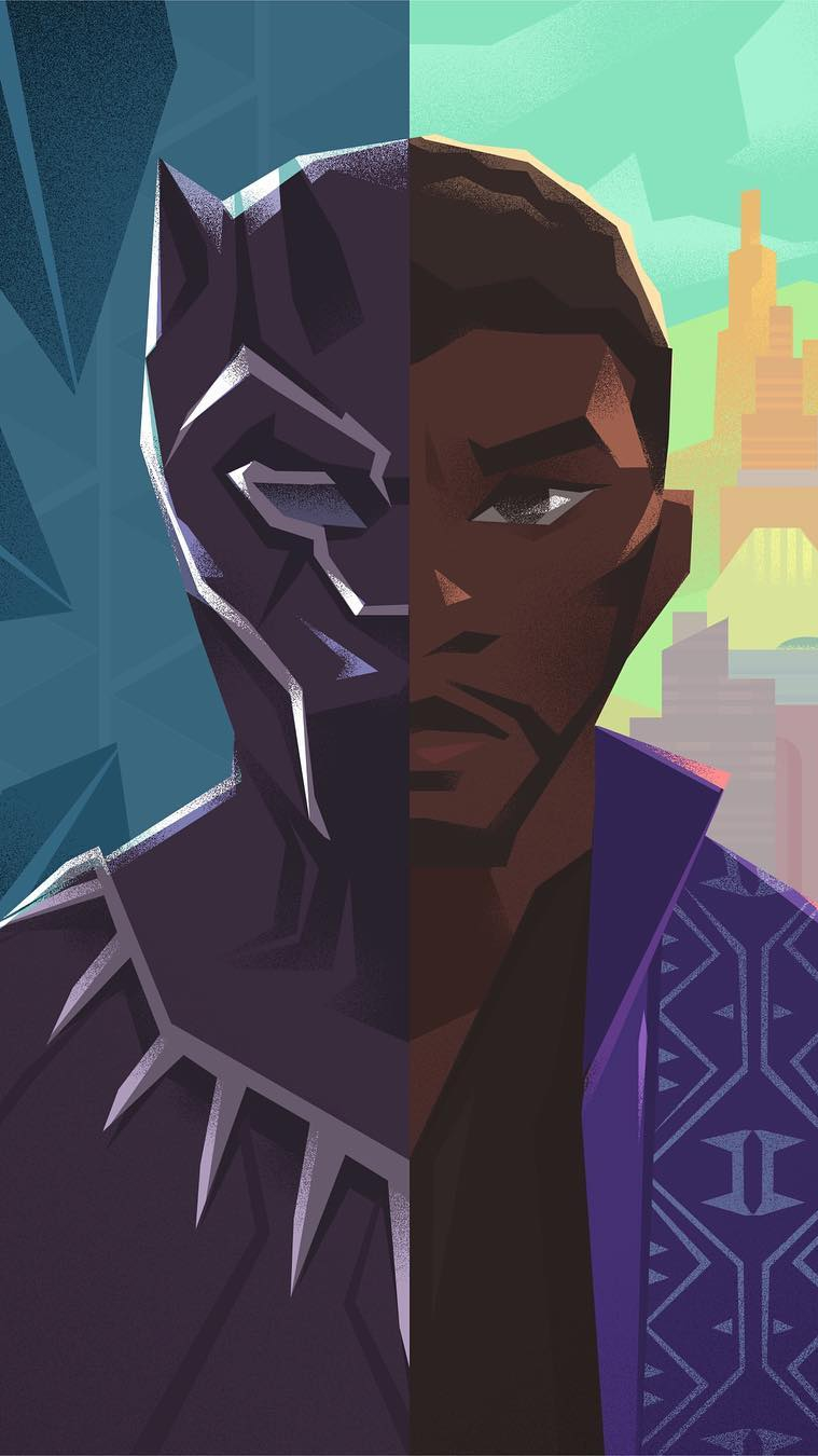 Black Panther Personality iPhone Wallpaper