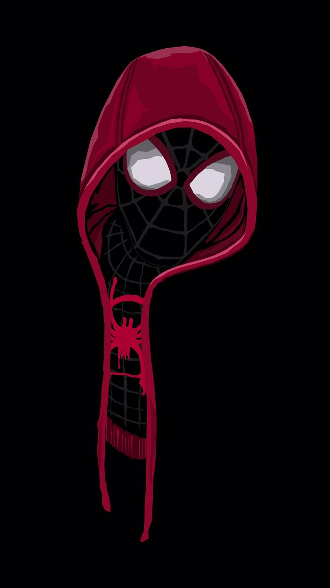 Black Spiderman Hoodie iPhone Wallpaper