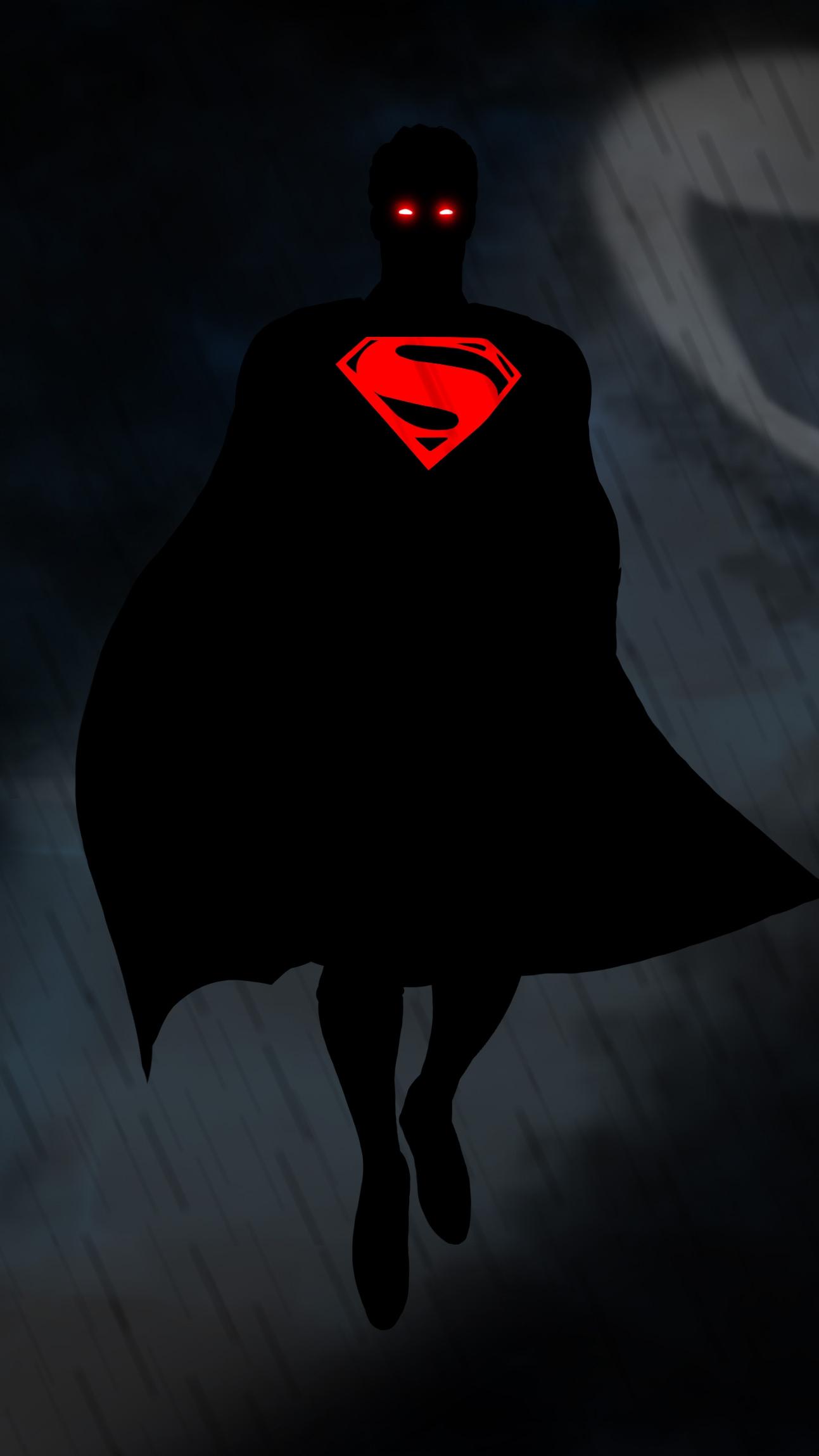 Black Superman iPhone Wallpaper