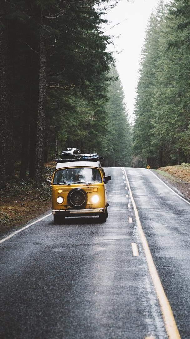 Camper Van Life Adventures iPhone Wallpaper