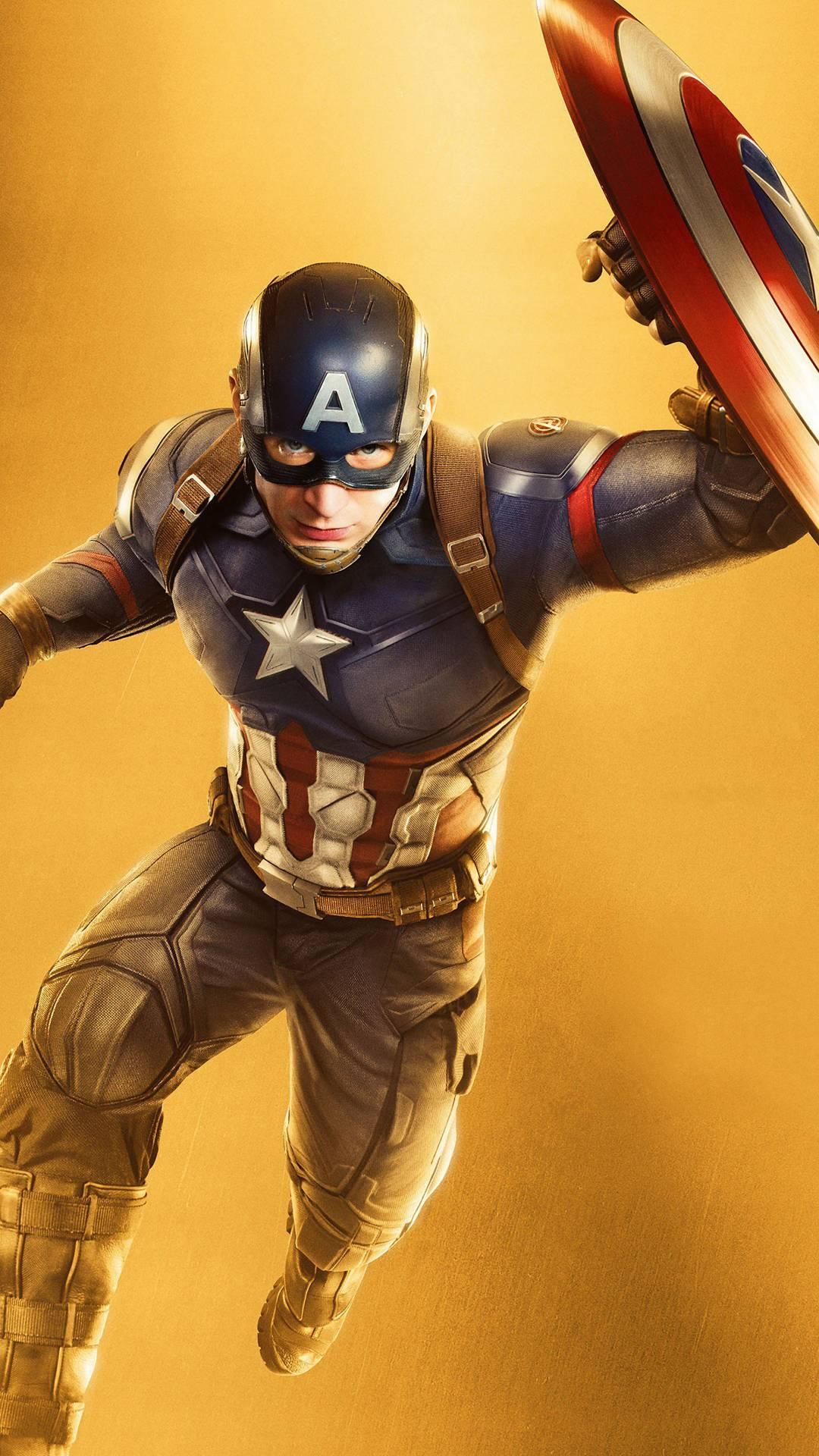 Captain Rogers Avengers Endgame iPhone Wallpaper