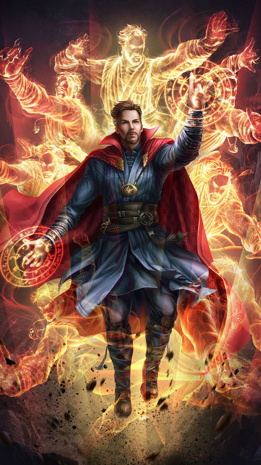 Doctor Strange Artwork iPhone Wallpaper