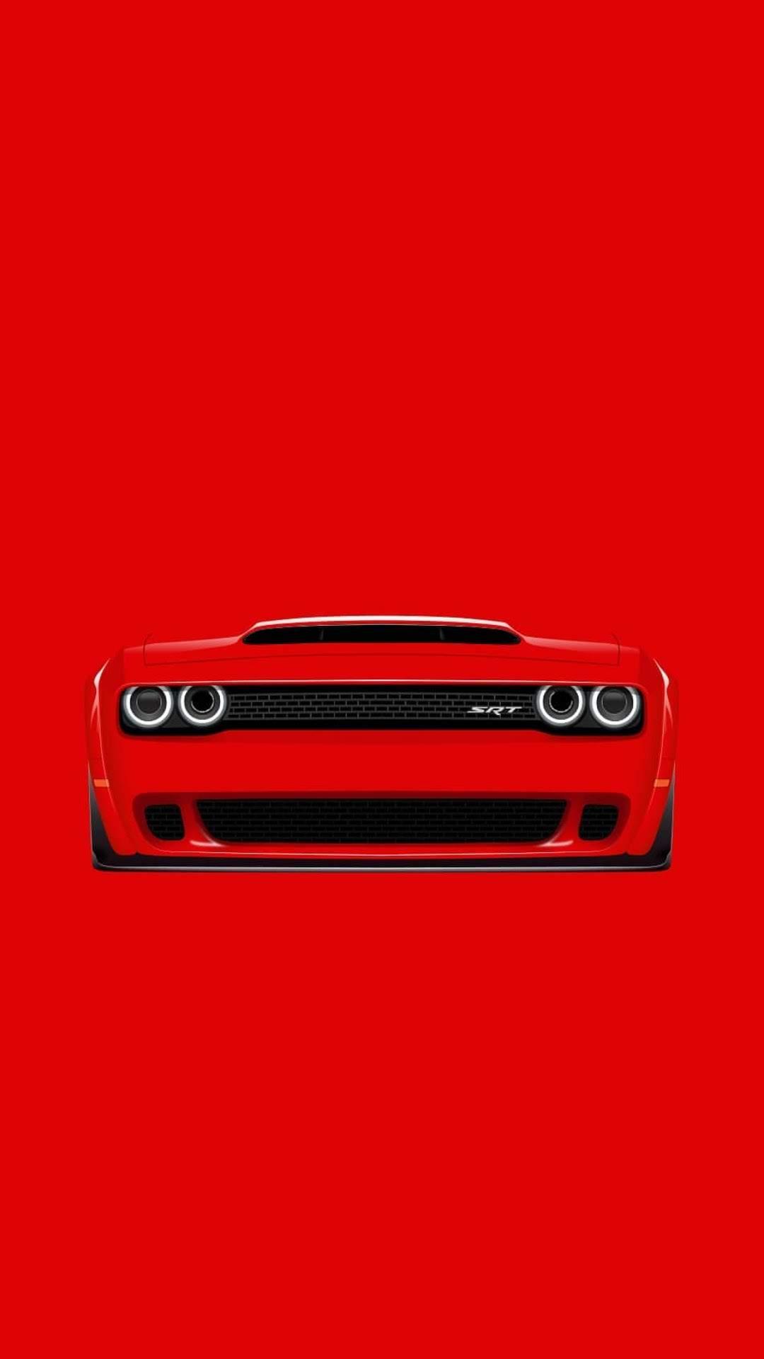 Dodge Challenger SRT Art iPhone Wallpaper