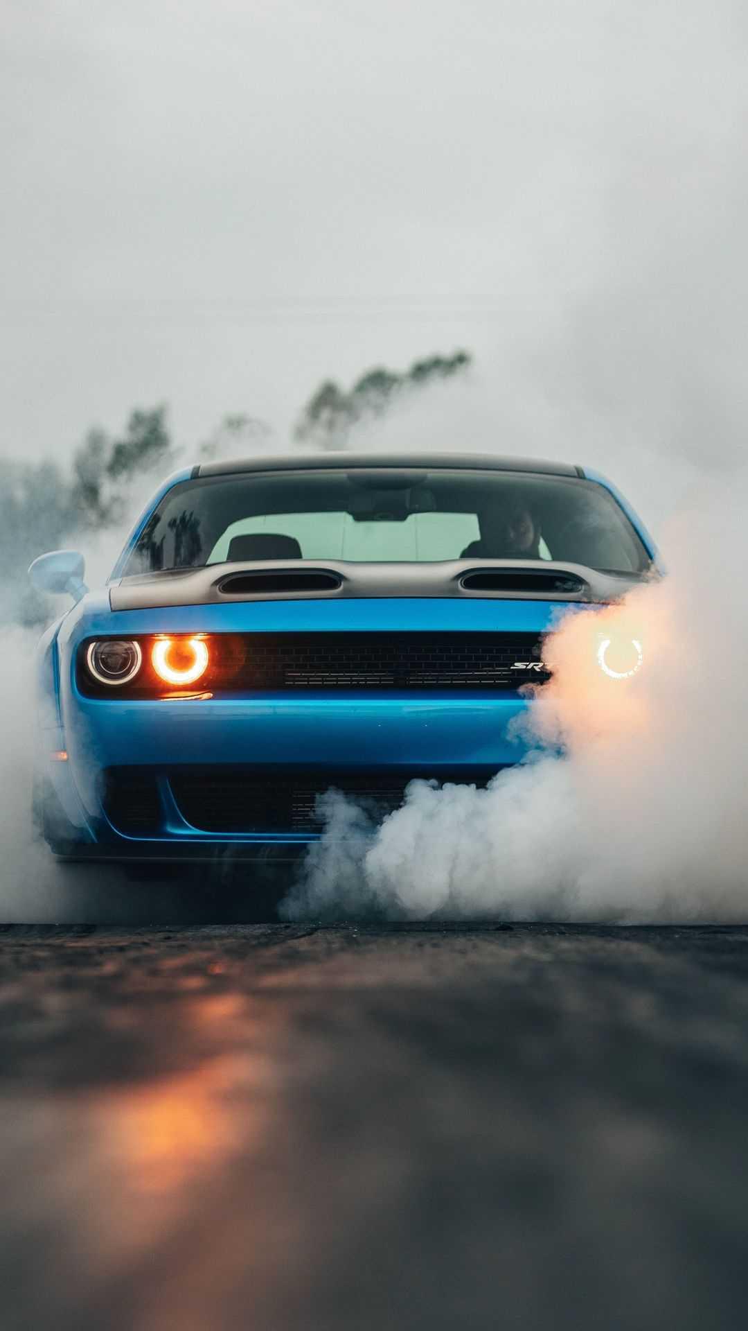 Dodge Challenger SRT Burnout iPhone Wallpaper