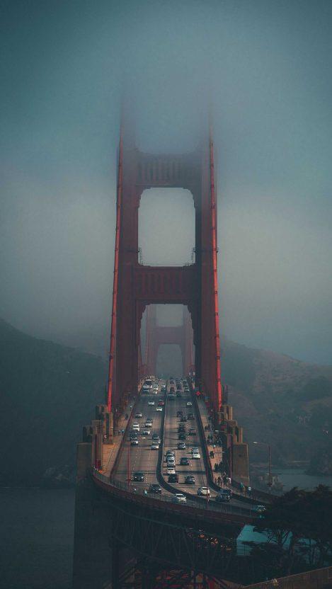 Foggy Golden Gate Bridge iPhone Wallpaper