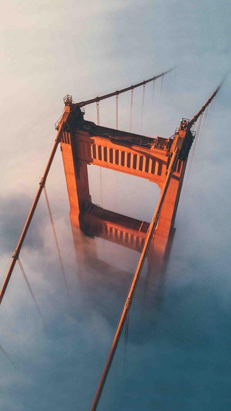 Golden Gate Bridge Above The Fog iPhone Wallpaper