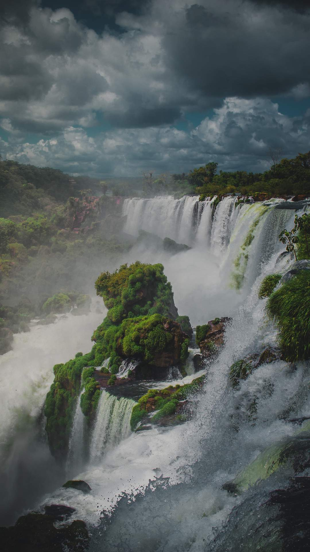 Green Waterfalls Nature iPhone Wallpaper